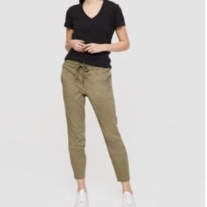 Lou & Grey Chillout Crop Pant Olive Green Joggers